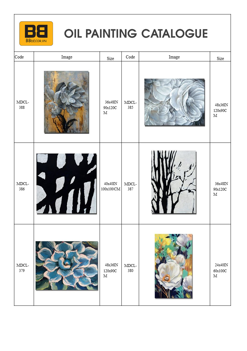 BB Oil Painting Catalogue 2021
